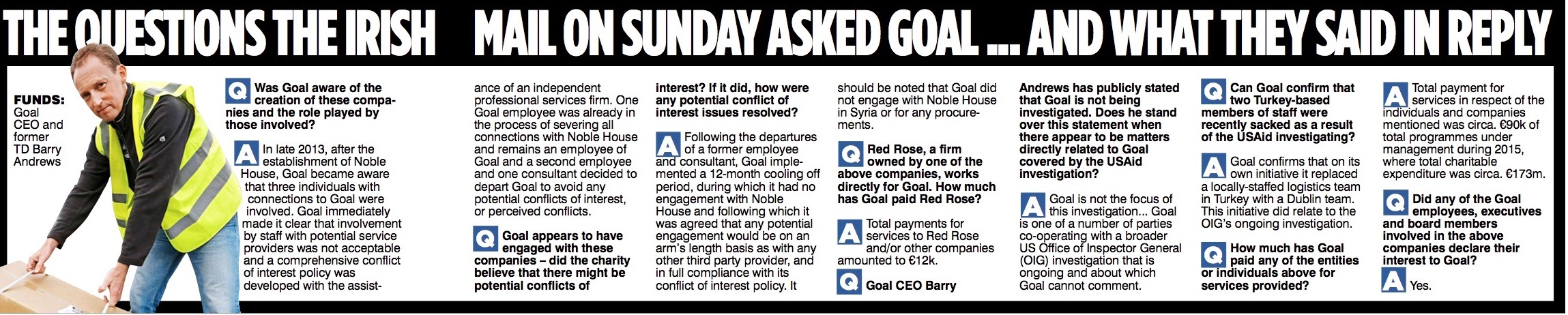 REVEALED Goal staff set up private company to profit from aid