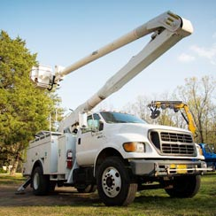 Newton Tree Service Altec bucket truck.