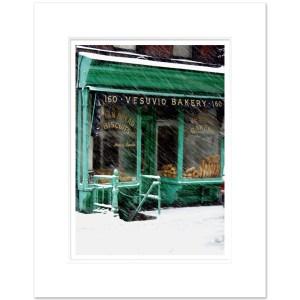 Vesuvio Bakery Soho Winter Art Print WNYC002 MW1620