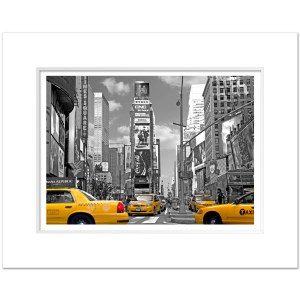 TSBC011-Times-Square-NYC-Art-Print-BW-with-Color-MW1620