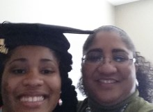 my daughter and I at her college graduation