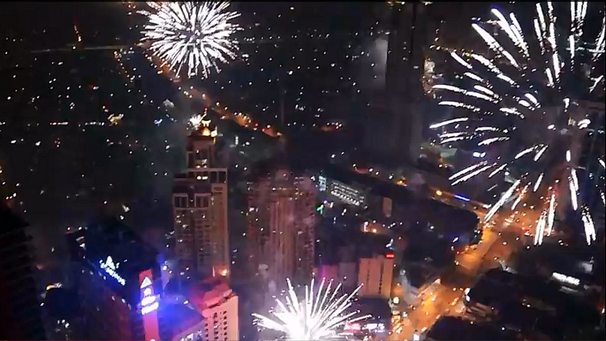 New Year's Eve Fireworks Over Metro Manila
