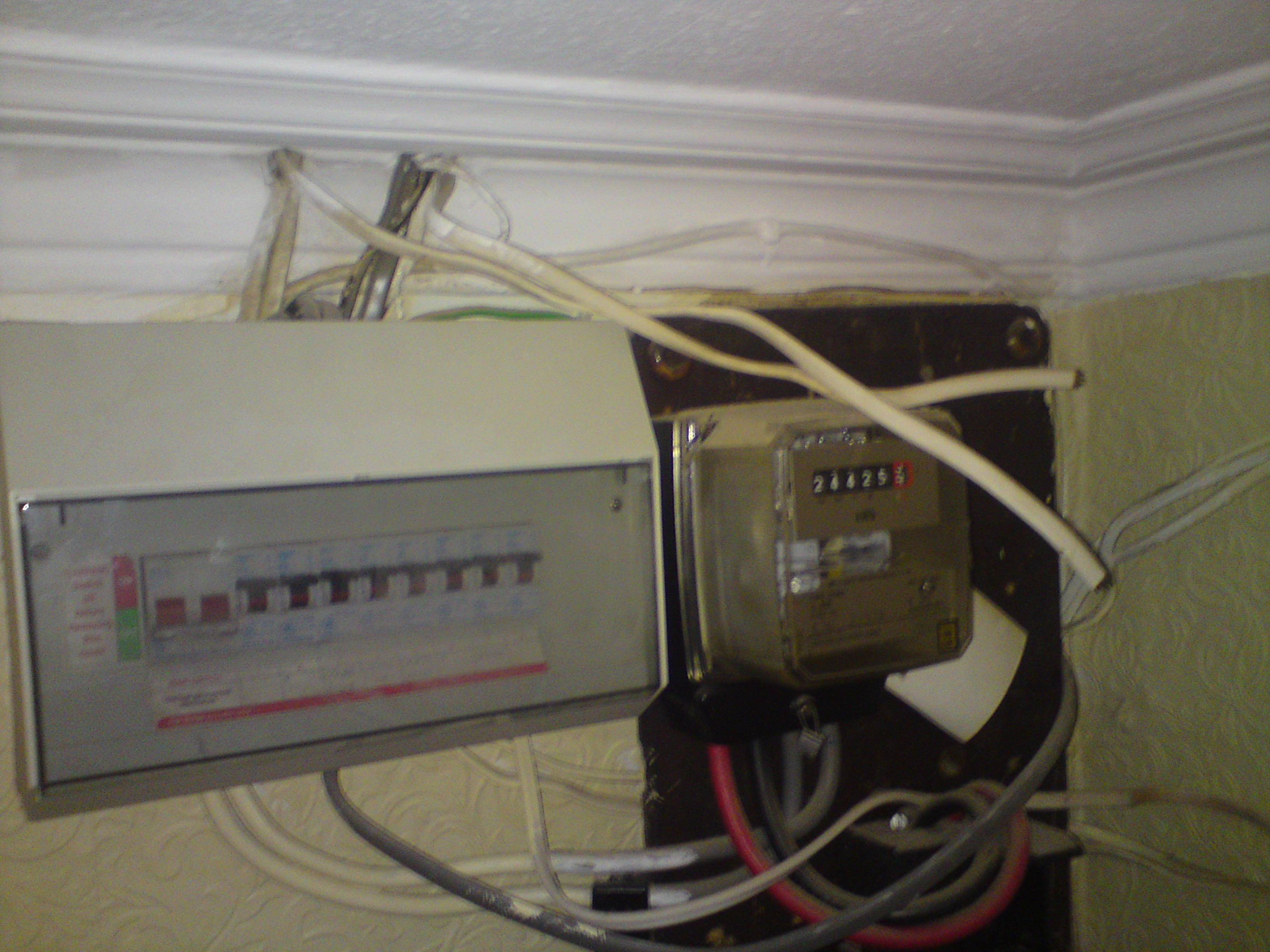 Electrical Test And Inspection Dangerous Wiring A Fuse Board Modern Fuseboard But Is It Safe Just Looks Bit Untidy There More Than That Wrong Hereafter Of Attention We Now Have Main Bonding Rcd
