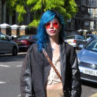 Street Style: Krista Papista's Blue Hair & Creepers