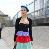 Street Style: Frankie Scott's Turquoise Hair in Hackney