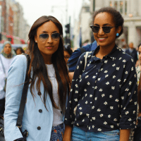 Street Style: Nevean & Morgan In Oxford Circus