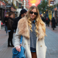 Street Style: Gizem's Faux Fur on Carnaby St