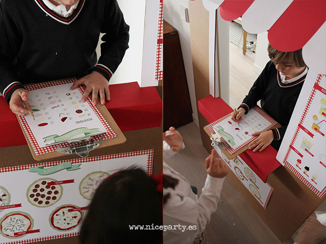 Nice Party Pizza Party puesto de pizzas de cartón para jugar
