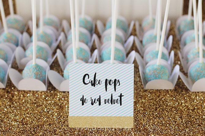 Nice Party fiesta 70 cumpleaños decoración y mesa de dulces dorado (14)
