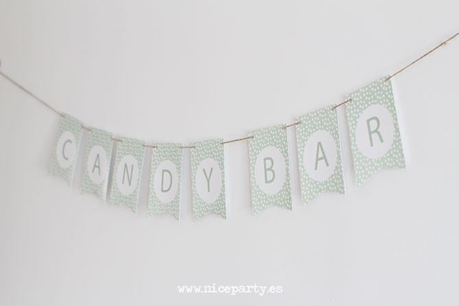 Nice Party guirnalda imprimible gratis mint