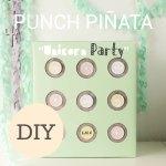 DIY punch piñata para los más pequeños