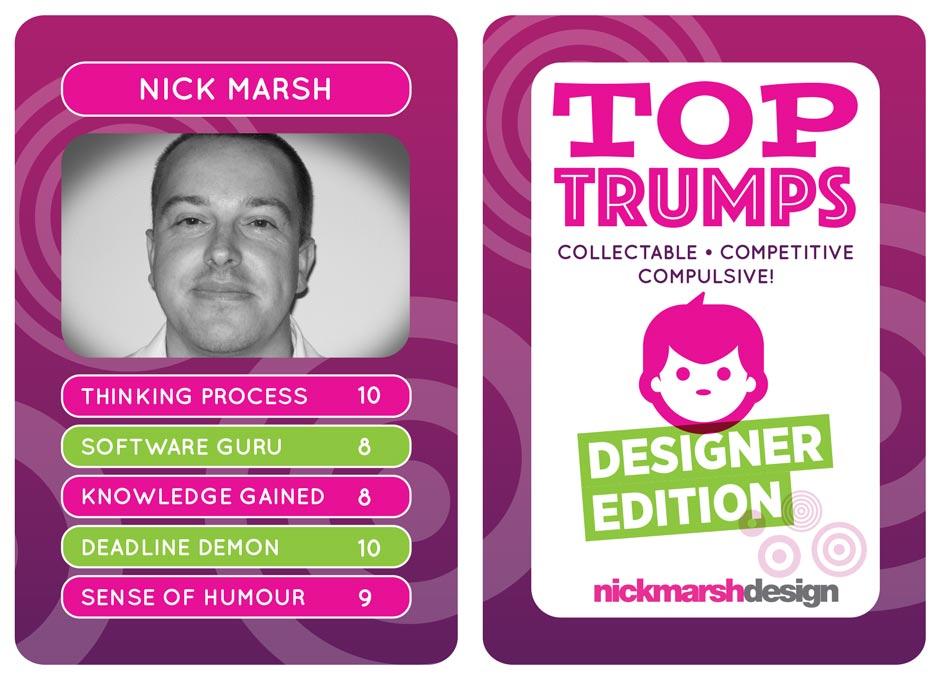 Designer Top Trumps Cards