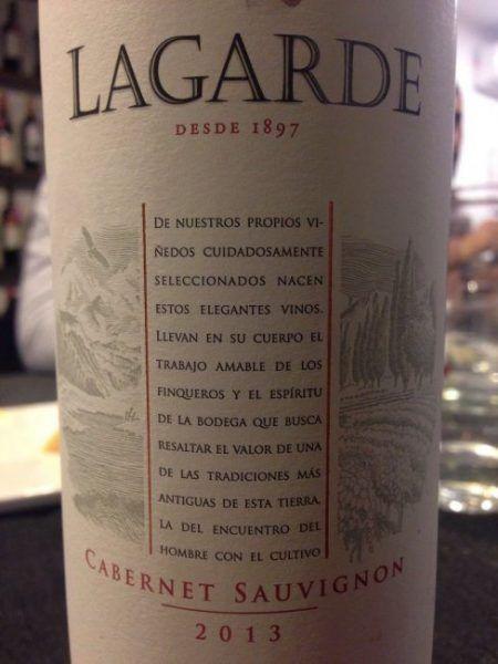 Lagarde Cabernet Sauvignon 2013