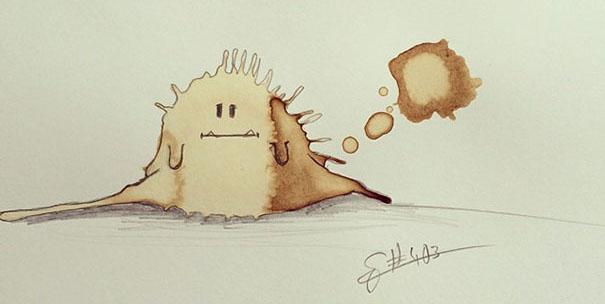 Des monstres à partir de tâches de café