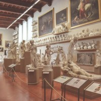 Sculptures & Jane Austen in the Galleria dell'Accademia?  Florence, Italy