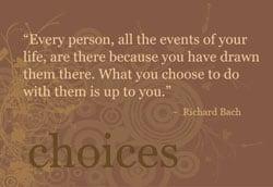 keuzes Voorbestemming, vrije wil en handelen (zeggenschap hebben over ons leven)