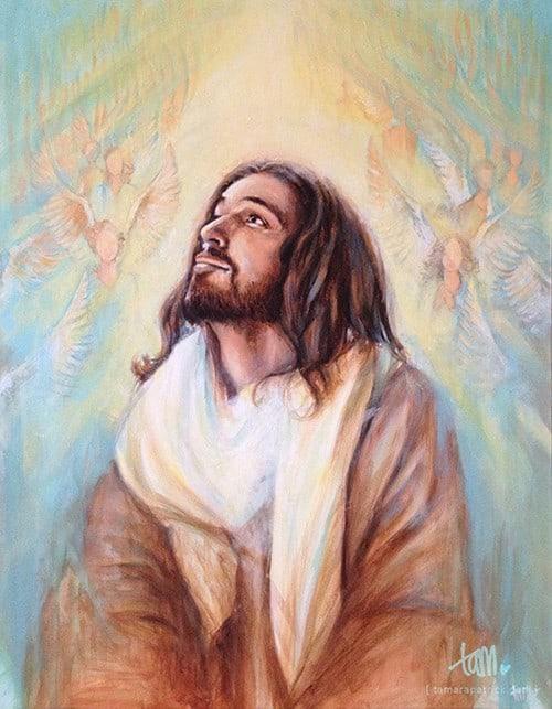 paint jesusangels 500 Overgave   over Schilderen en Goddelijke begeleiding