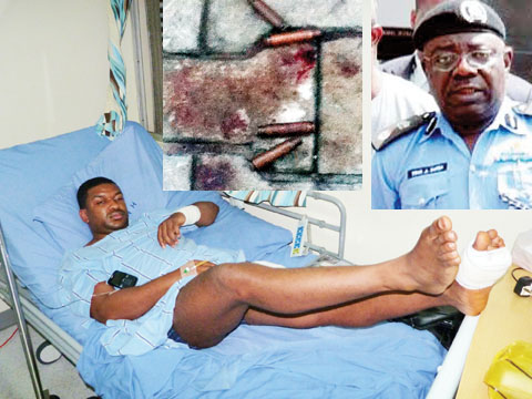Shot banker, Femi Badejo, commissioner of police and bullets from victims