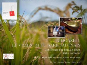 Conférence Saké Samourai Sylvain Huet MCJP