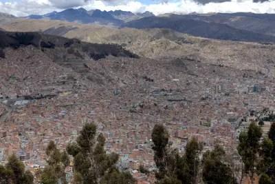 La Paz in Bolivien, Panorama.