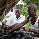 Alausine Thullah, 18, automechanic, Makeni, Sierra Leone. Photo © Nile Sprague