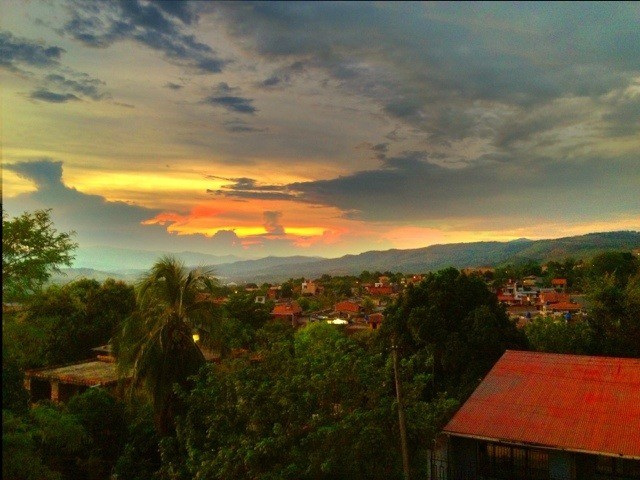 Beautiful sunset overlooking Tarapoto, Peru.