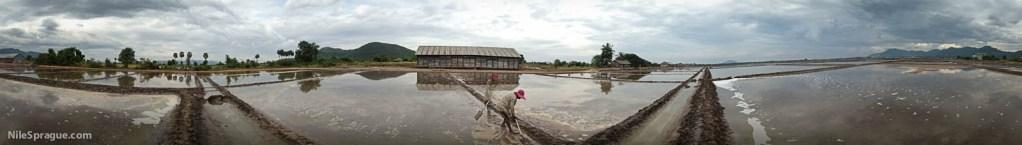 Salt flats, Kep, Kampot