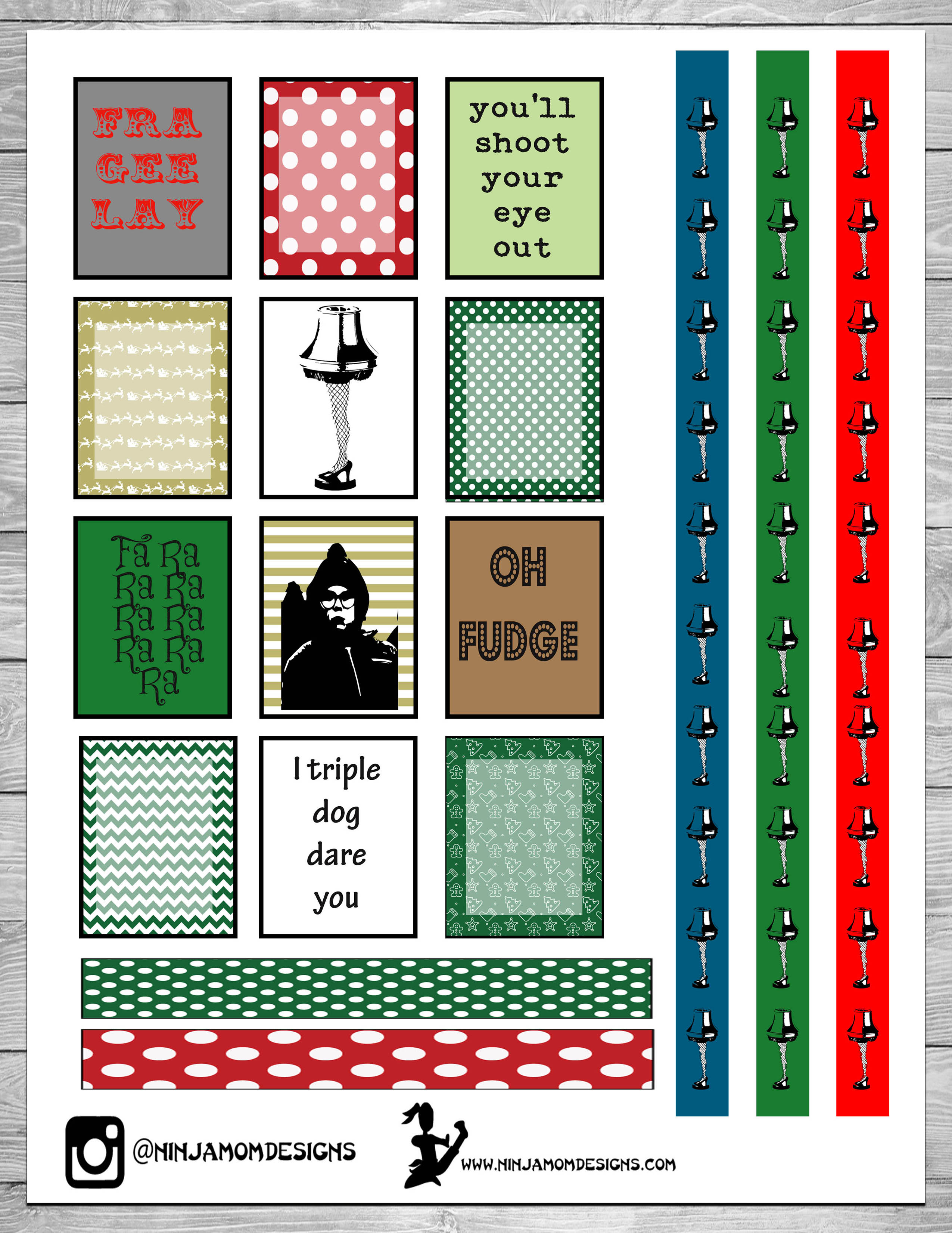 Free christmas story movie planner sticker printable for Story planner free