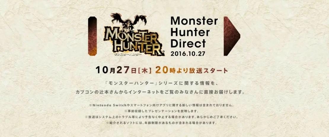 Monster Hunter Nintendo Direct Lands On Thursday