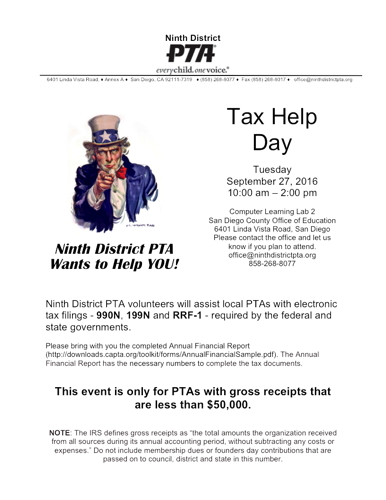 Tax Help Day Flyer