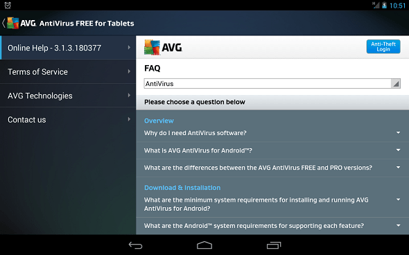 FREE Tablet AntiVirus Security - Help Guide