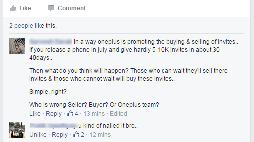 Oneplus two invite system debate