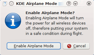 KDE Airplane Mode
