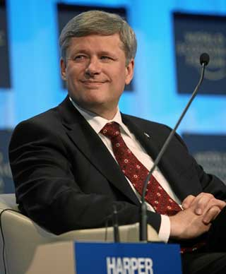 Stephen Harper Davos web Harpers doctrinaire conservatism forces Stats Canada head to quit photo