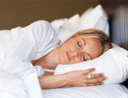 deep sleep image of woman in bed