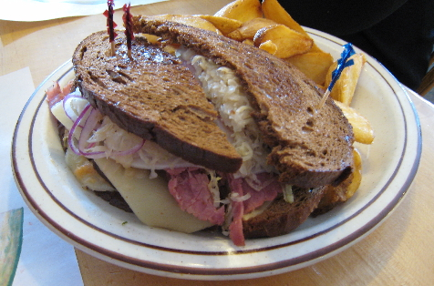 The triple-stacked Uncle Reuben