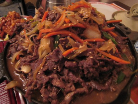 Bulgogi, a house specialty