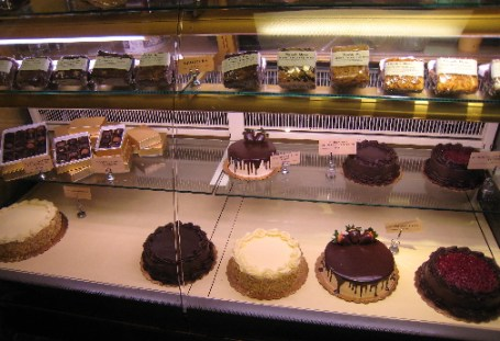 The beautiful pastry case