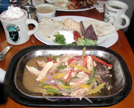Cafe San Marcos chicken fajitas