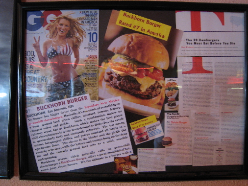 The GQ magazine in which the Buckhorn Burger was rated among America's best