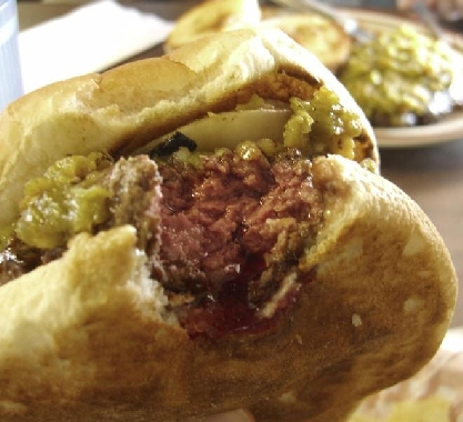The green chile cheeseburger at the Bobcat Bite is perhaps the very best in New Mexico.