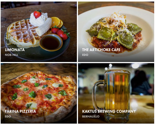 The remaining four restaurants featured on Fubelly at launch