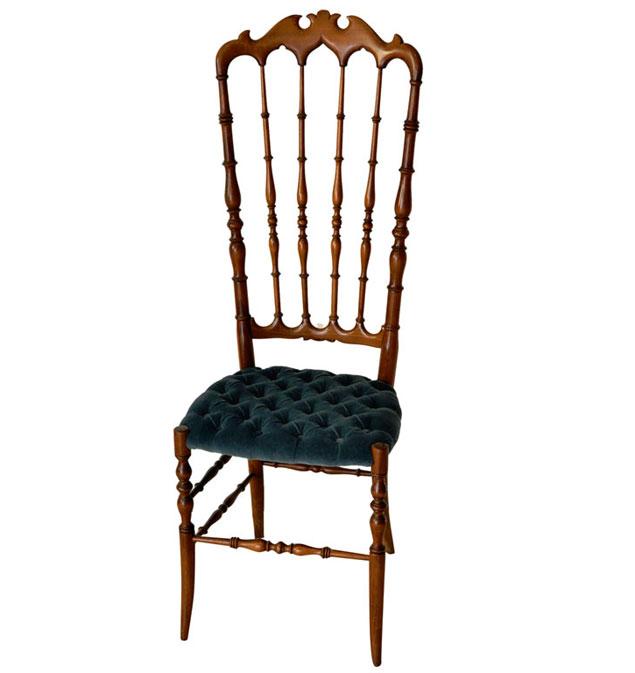 Carved Wood Chiavari Chair