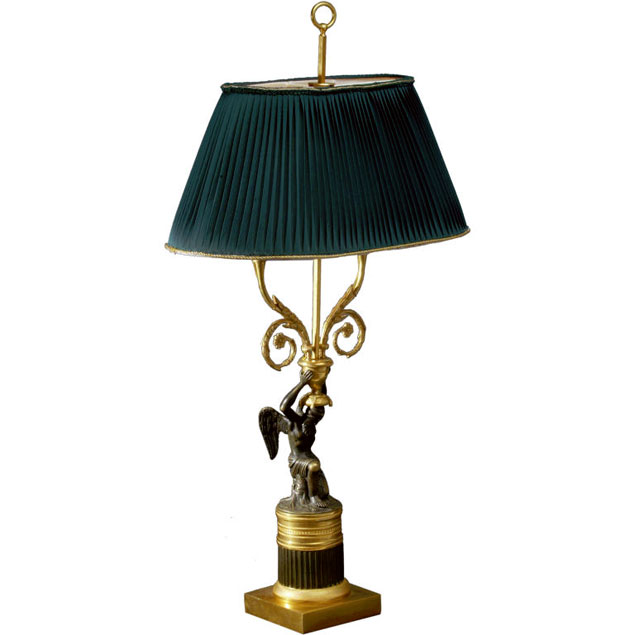Bronze Russian Empire Lamp