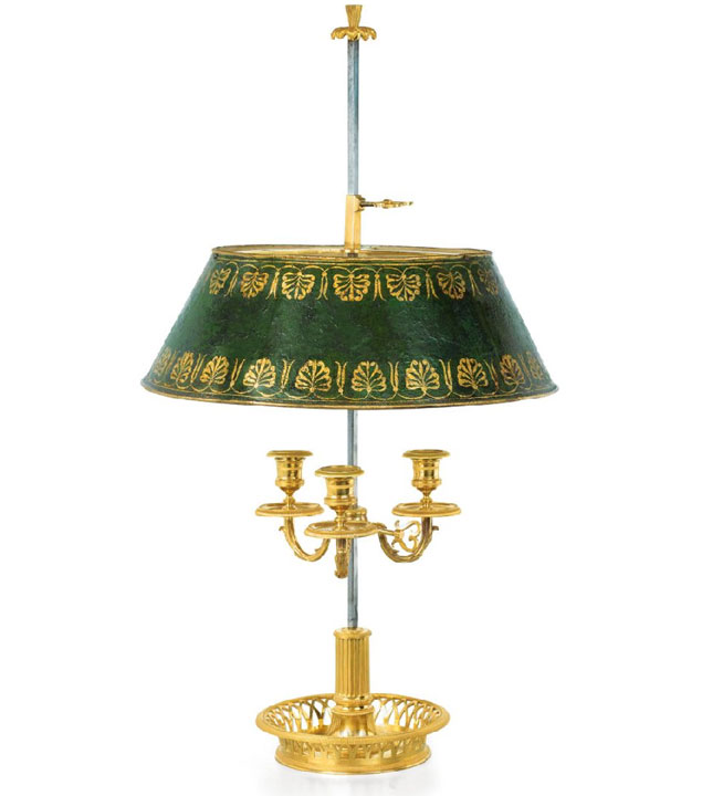 French Bronze Bouillotte Lamp
