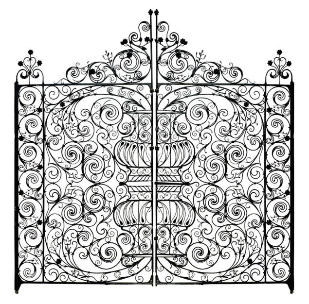 Italian Wrought Iron Gates