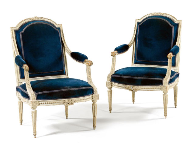 Louis XVI Painted Armchairs