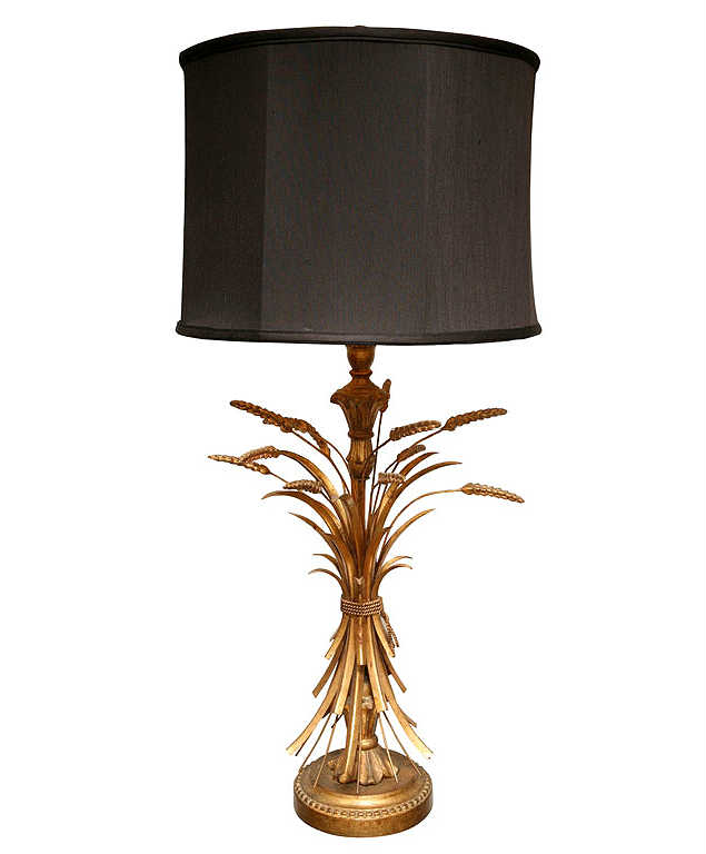 gilt sheaf of wheat lamp