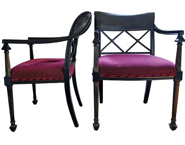 violet regency style chairs