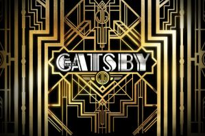Great Gatsby Art Deco Gold and Black Logo